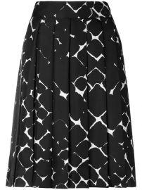 Marc Jacobs Pleated Abstract Diamond Silk Skirt - Farfetch at Farfetch