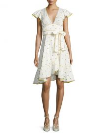 Marc Jacobs Printed Voile Ruffle-Sleeve Dress at Bergdorf Goodman