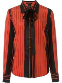Marc Jacobs Striped Pussy Bow Shirt  - Mantovani at Farfetch