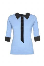 Marc Jacobs Trompe L\'Oeil Knit Short Sleeve Sweater at SSENSE