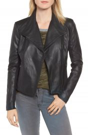 Marc New York by Andrew Marc Felix Stand Collar Leather Jacket   Nordstrom at Nordstrom