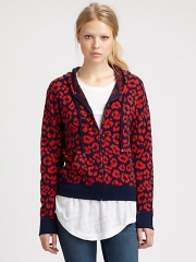 Marc by Marc Jacobs - Lita Cheetah Hoodie at Saks Fifth Avenue