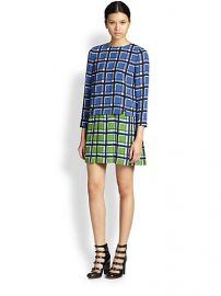 Marc by Marc Jacobs - Toto Layered Contrast Plaid Dress at Saks Fifth Avenue