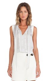 Marc by Marc Jacobs Damara Print Crinkle Blouse in Antique White Multi  REVOLVE at Revolve