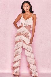 Marcella Fringe Jumpsuit by House of CB at House of CB