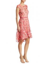 Marchesa Notte - Embroidery Fit-And-Flare Dress at Saks Fifth Avenue
