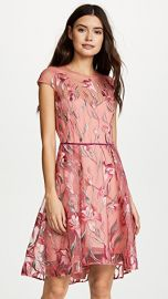 Marchesa Notte Cap Sleeve Cocktail Dress at Shopbop