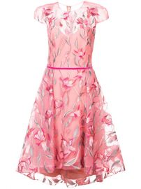 Marchesa Notte Floral Embroidered Flared Dress  695 - Buy Online SS18 - Quick Shipping  Price at Farfetch