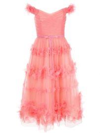 Marchesa Notte Floral Layer Dress - Farfetch at Farfetch