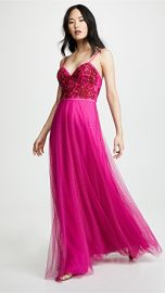 Marchesa Notte Strapless Beaded Embroidered Gown at Shopbop