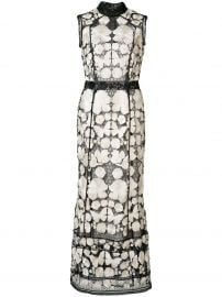 Marchesa Notte embroidered dress at Farfetch