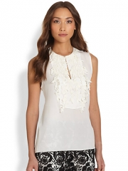 Marchesa Voyage - Lace-Trim Shell at Saks Fifth Avenue