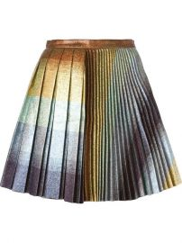 Marco De Vincenzo Pleated Glitter Skirt at Farfetch