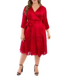 Maree Pour Toi Plus Silk Burnout Wrap Dress Women -  Plus - Bloomingdale s at Bloomingdales