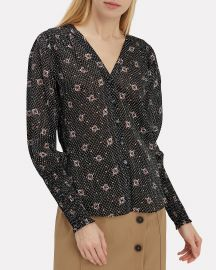 Maree Smocked Accent Blouse at Intermix