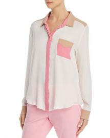 Marella Odessa Color Block Blouse Women - Bloomingdale s at Bloomingdales