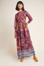 Maren Embroidered Maxi Dress at Anthropologie