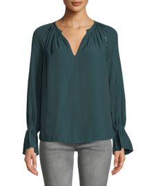 Margaret Studded Long-Sleeve Top at Last Call