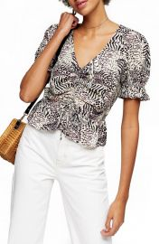 Margot animal print top at Nordstrom