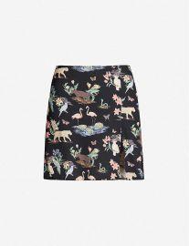 Margot wildlife-print crepe mini skirt at Selfridges