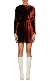 Marin Velvet Fitted Dress at Barneys Warehouse