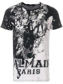 Mariniere Print T-shirt  Balmain at Farfetch