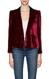Marion Velvet Double-Breasted Crop Blazer at Barneys