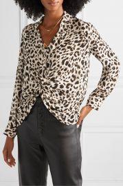 Mariposa twist-front leopard-print silk-georgette blouse at Net A Porter