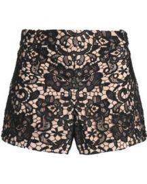 Marisa guipure lace shorts at Alice + Olivia
