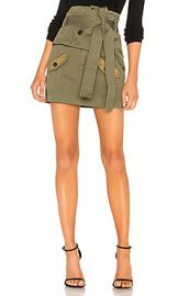 Marissa Webb Aster Cotton Canvas Skirt in Military Green Combo from Revolve com at Revolve