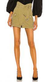 Marissa Webb Brooke Heavy Canvas Mini Skirt in Khaki Green from Revolve com at Revolve