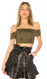 Marissa Webb Chantel Top in Forest from Revolve com at Revolve