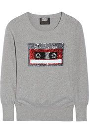 Markus Lupfer Retro Tape Embellished Sweater at The Outnet