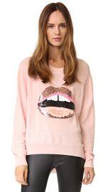 Markus Lupfer Tonal Sequin Lara Lip Joey Sweater at Shopbop