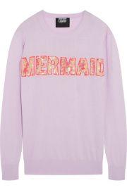 Markus LupferandnbspandnbspMermaid sequined cotton-blend sweater at Net A Porter