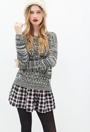Marled Mixed Knit Sweater  Forever 21 - 2000134819 at Forever 21