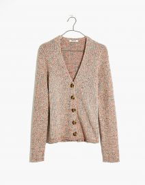 Marled Shrunken Ribbed Cardigan Sweater at Madewell