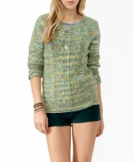 Marley's green knit sweater at Forever 21