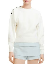 Marlina Cropped Shoulder-Snap Sweater at Bloomingdales
