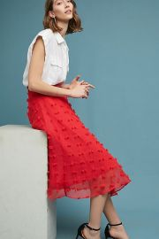 Marlow Textured Skirt by Luxe by Stylekeepers at Anthropologie