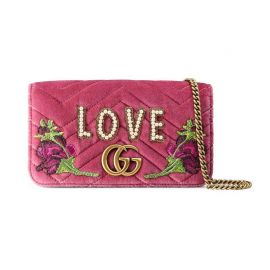 Marmont Embroidered Velvet Mini Bag by Gucci at Gucci