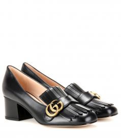 Marmont leather loafer pumps at Mytheresa