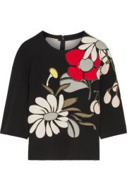 Marni   Appliqu  d ponte top at Net A Porter