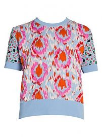 Marni - Stretch Floral Jacquard Sweater at Saks Fifth Avenue