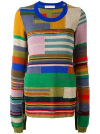 Marni Block Stripe Cape Sleeve Sweater  1 090 - Buy AW17 Online - Fast Delivery  Price at Farfetch