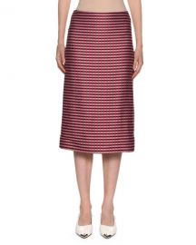 Marni Checked-Knit Midi Pencil Skirt at Neiman Marcus