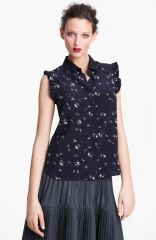 Marni Edition People Print Crepe Blouse at Nordstrom