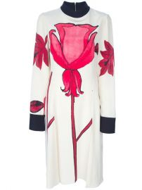 Marni Floral Print Crepe Dress - at Farfetch