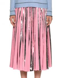 Marni Plisse Foil Ankle-Length Skirt at Neiman Marcus
