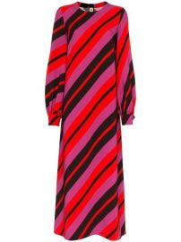Marni Stripe Print Long Sleeve Mid-length Dress - Farfetch at Farfetch